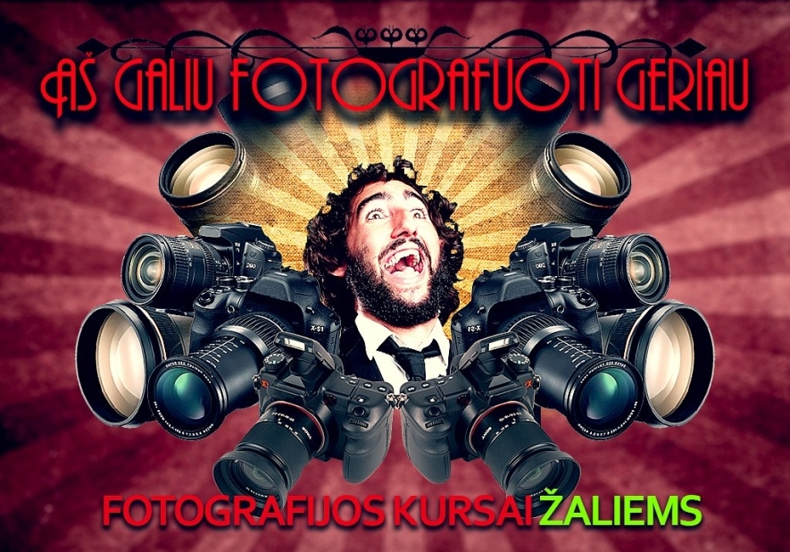 """Fotografijos seminaras """"Aš galiu fotografuoti geriau"""""""