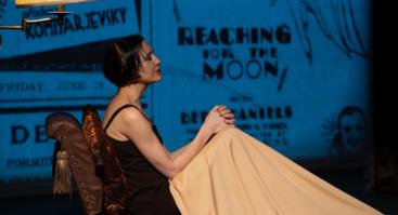 """Birutė Mar  -""""Unė"""" - spektaklis aktorės Unės Babickaitės dienoraščių motyvais."""