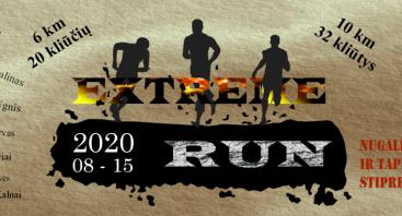 """Ekstremalus bėgimas su kliūtimis """"Extreme RUN 2020"""""""