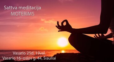 Sattva meditacija moterims