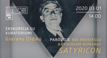 """Ekskursija su kuratoriumi parodoje """"300 paveikslų antikiniam romanui """"Satyrikonas"""""""