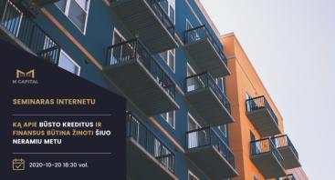 Ką apie būsto kreditus ir finansus būtina žinoti šiuo neramiu metu? Kaunas