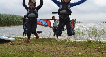 Ekstremali stovykla - jodinėjimas, vandenlentės, burlentės