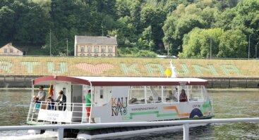Saugus pasiplaukiojimas laivu Kaunas žemyn upe