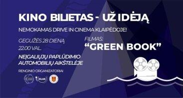 DRIVE IN CINEMA: Kino bilietas – už idėją