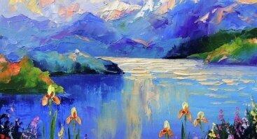 """Tapybos popietė """"Mėlynieji kalnai"""""""