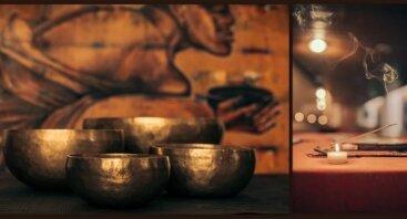 Gydomieji garsai.Dainuojančių dubenų garso masažo meno seminaras