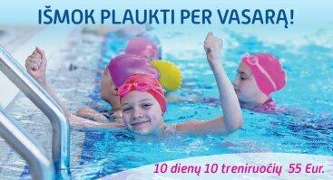 Išmok plaukti per vasarą! 10 dienų 10 treniruočių.