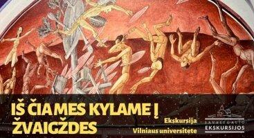 Iš čia mes kylame į žvaigždes: ekskursija Vilniaus universiteto ansamblyje
