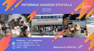 "Vasaros stovykla ""Informiko akademija 2020"""