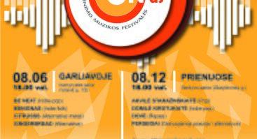 """Jaunimo muzikos festivalio """"MŪZ'ON'AS"""" atrankiniai turai - koncertai! (rugpjūčio 6 d.)"""