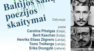 Poezijos pavasaris 2020 Kaune: Baltijos šalių poezijos skaitymai / Baltic Poetry Readings