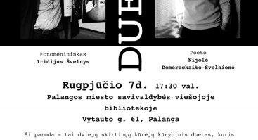 """""""Duetas"""": fotografijos ir poezijos paroda"""