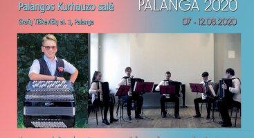 XXVI Tarptautinis akordeono festivalis PALANGA 2020. Jonas Vozbutas ir Vilniaus J. Tallat-Kelpšos konservatorijos akordeonų kvintetas