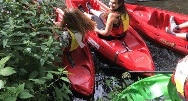 Instruktuojami baidarių turai Vilnelės upe