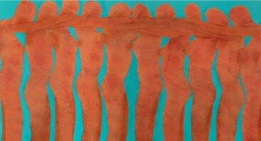 Kūno kalba, išduodanti jausmus – naujoje Babel Mnauar tapybos parodoje