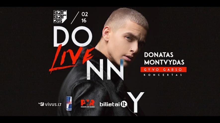 DONATAS MONTVYDAS LIVE