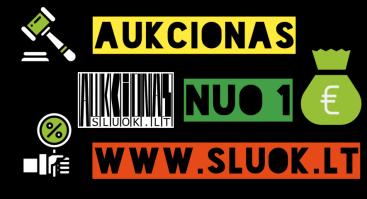AUKCIONAS nuo 1 EUR