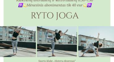 Rytinė joga - energingos dienos pradžia
