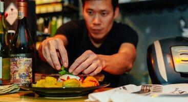 Azijos šefo Rufo Chua vakarienė + vyno degustacija | Troškinti kiaulienos šonkauliukai ir papilvė