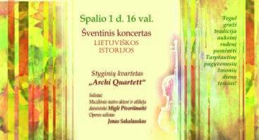 """Šventinis koncertas """"Lietuviškos istorijos"""""""