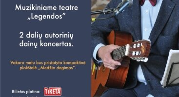 Vladas Bagdonas. Autorinių dainų koncertas|Vilniuje