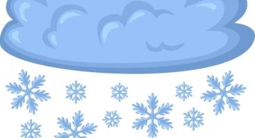 Kalėdų Senelė ir sniego debesis