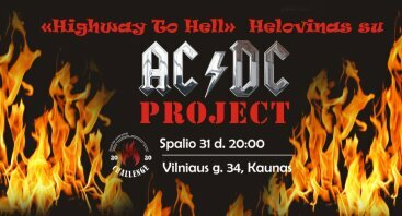 """Highway To Hell"" Helovino vakarėlis su AC/DC Project   Challenge restoranas"