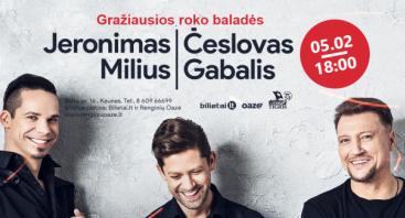 Jeronimas Milius ir Česlovas Gabalis, Gražiausios roko baladės