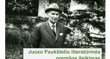J. Paukštelio literatūrinės premijos įteikimas
