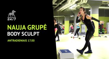 Nauja Body Sculpt grupė SportGates sporto klube