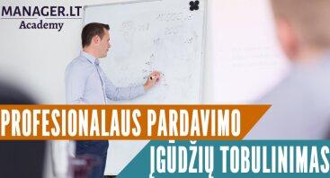 Profesionalaus pardavimo įgūdžių tobulinimas – Aktyvių pardavimų mokymai
