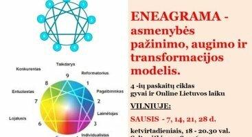ENEAGRAMA - asmenybės pažinimo, augimo ir   transformacijos modelis - Vilniuje