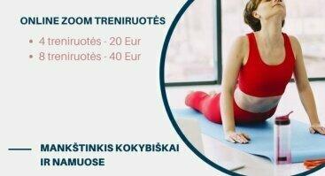 Sportuok namuose! Online zoom treniruotės nuo 20 Eur!