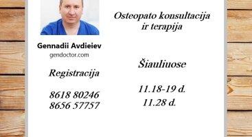 Osteopato Konsultacija Ir Terapija