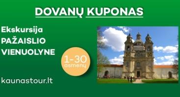 DOVANŲ KUPONAS  Ekskursija Pažaislio vienuolyne 1-30 asmenų