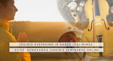 Joginio kvėpavimo ir garso įgalinimas - nemokamas seminaras