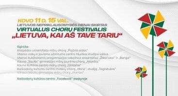 """Virtualus chorų festivalis """"Lietuva, kai aš tave tariu"""""""