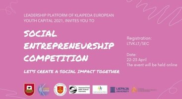 Socialinis verslumo konkursas/ social entrepreneurship competition