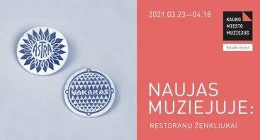 Naujas muziejuje: restoranų ženkliukai