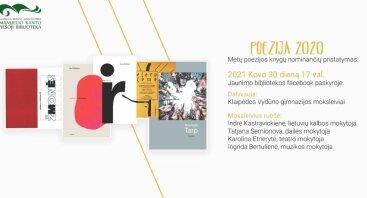Poezija 2020: Metų poezijos knygų nominančių pristatymas