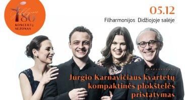 Jurgio Karnavičiaus kvartetų kompaktinės plokštelės pristatymas