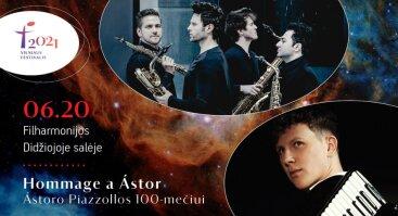 "Vilniaus festivalis 2021. Martynas Levickis ir SIGNUM. ""Hommage a Ástor"""