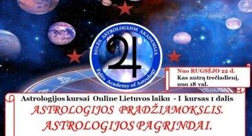 ASTROLOGIJOS kursai - ASTROLOGIJOS PAGRINDAI. PRAKTIKUMAS.