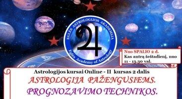 ONLINE - Astrologija pažengusiems. PROGNOZAVIMO TECHNIKOS. Praktikumas