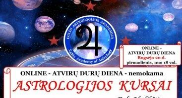 Nemokama Online ATVIRŲ DURŲ DIENA - ASTROLOGIJOS KURSŲ pristatymas - Eglės ASTROLOGIJOS Akademija