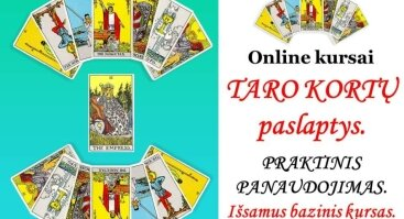 Online bazinis kursas -TARO KORTŲ paslaptys. Praktinis panaudojimas.