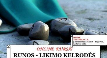"""Online kursai - """"RUNOS - LIKIMO KELRODĖS. Praktinis panaudojimas."""""""