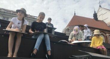 """Stovykla - Kūrybiniai vasaros pusiaudieniai su dailininku  """"Jaunasis dailininkas"""" 7-14m. vaikams"""