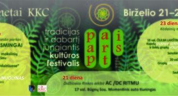 """75-erius metus tradicijas ir dabartį  jungiantis KKC Kultūros festivalis """"Pap / Art / Is"""""""